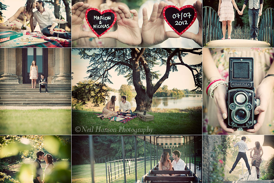 Vintage styled engagement & pre-wedding photo shoots by Neil Hanson Photography in Oxfordshire