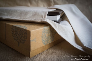 Fine Art Wedding Albums created by Neil hanson Photography for Caswell House in the Cotswolds