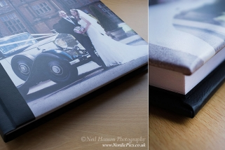 Contemporary Modern Wedding Album design for Eynsham Hall by Neil Hanson Photography