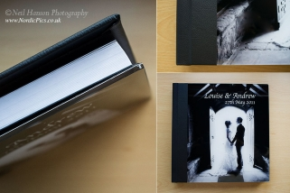 Oulton Hall Wedding Album with acrylic cover