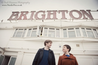 Misha & Tom's Brighton engagement photo-shoot