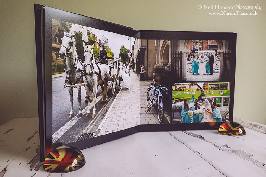 Horse drawn carriage and Rhodes House Wedding Albums by Neil Hanson Photography
