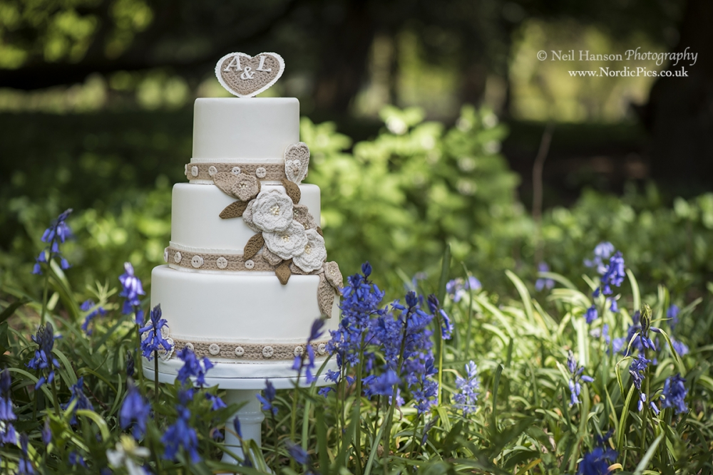 Tier Wedding Cake With Leather Leaf On Top