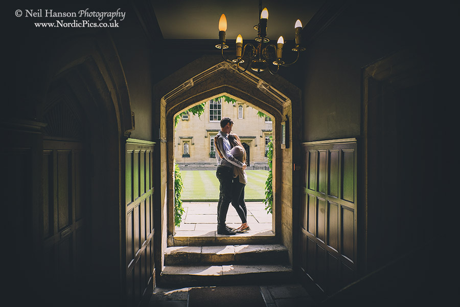 Laura & Richards Engagement portraits at Lincoln College Oxford