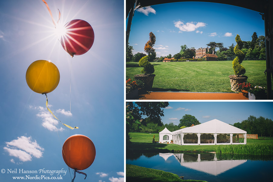 Ardington House Grounds on a Spring time wedding day