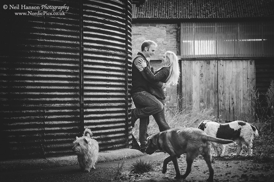 Documentary couples portraits with their pet dogs